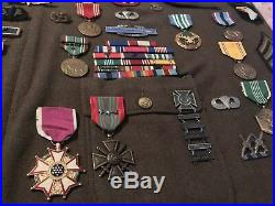 Original WWII US Army Airborne Lot Grouping Medals Patches Pins Etc IDd