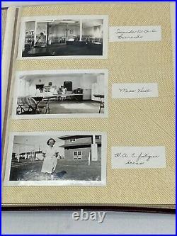 Original WWII US Army Female WAC Photo Album 58 Photo's