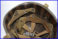 Original WWII US Army McCord Fixed Bale M1 helmet with Tech Sgt 2 marked liner