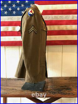 Original WWII WW2 1941 US Army Uniform Jacket and Trouser Named