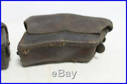 Original WWII WW2 German Army Set of 2 Leather Mannlicher M88 Ammo Pouch