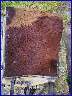 Original WWII WW2 German Horse Hair Backpack, Tornister, Rucksack, Wehrmacht, Army