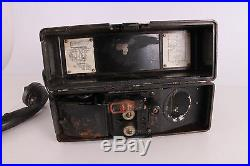 Original WWII WW2 Old German Army Bakelite Field Phone