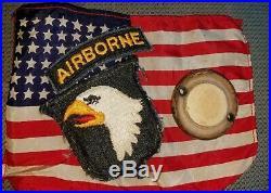 Original Wwii Us Army Airborne Paratrooper D-day Luminous Helmet Disc