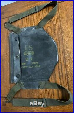 Original Wwii Us Army Combat Rubberized M7 Gask Mask Bag Assault Paratrooper