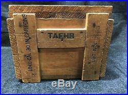 Original Wwii Us Military Ball M2.30 Cal Ammo Box M1 Garand Wood Crate Army
