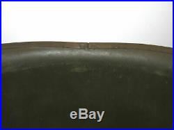 Original late WWII US Army Chaplain Helmet with painted cross Rear-seam Schlueter