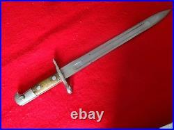 Original period WWI SWISS Army RIFLE Bayonet WAFFENFABRIK NEUHAUSEN15mm muzzle