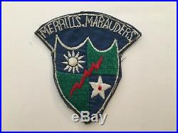 Pk136 Original WW2 US Army CBI 5307th Merrill's Marauders Mars Task Cotton WB10