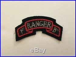 Pk188 Original WW2 US Army 1st Ranger Battalion Tab Theater Made Bullion WA11