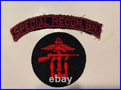 Pk502 Original WW2 US Army OSS Patch And Tab Set Special Recon Battalion WB11