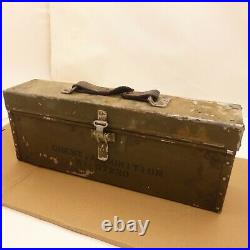 Pre/Early WW2 US Army Aluminum Type Ammunition Chest M1A1 30 Cal. Machine Rifle