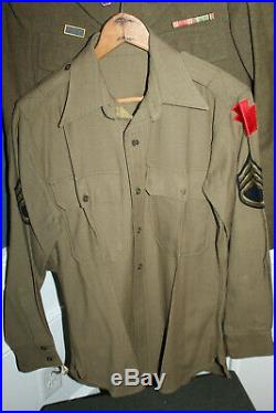 Rare Original WW2 U. S. Army 28th I. D. German Made Uniform Set withDI's, Named Set