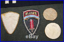 Rare Original WW2 U. S. Army MP's Nuremberg Bullion Insignia & Photo Grouping, Etc