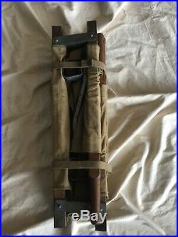 Rare Original WW2 US Army Airborne Paratrooper Medical Folding Stretcher