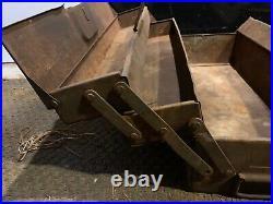Rare WW2 German Army Panzer Mechanics Tool Box Original Paint Useful item