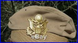 US Army AAF WW2 PILOT 50 MISSION CRUSH WOOL CRUSHER FLIGHT CAP Lewis Aviation
