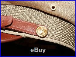US Army AAF WW2 PILOT BANCROFT FLIGHTER TROPICAL WOOL 50 MISSION CRUSH CAP Hat