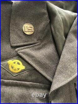 US Army WW2 Original (IKE) Jacket 13th Armoured Staff Seargeant (SSGT) 38R