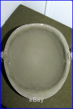 Untouched Original WW2 U. S. Army Front Seam M1 Helmet withChinstraps & T/Sgt Liner