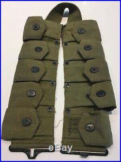 Unused Original WWII U. S. Army M-1923 Cartridge Belt OD Canvas Dated 1943 HS Co