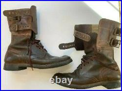 Used WW 2 US Army M1943 Double Buckle boots 10 1/2 D