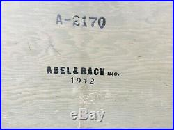 VERY NICE! ORIGINAL WWII US ARMY WOODEN FOOT LOCKER with TRAY 1942 GENUINE WW2
