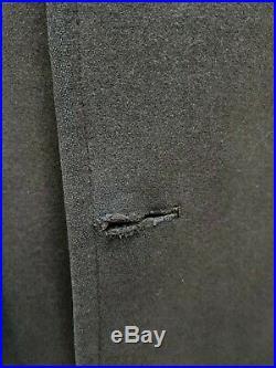 Vintage 1940's ww2 bespoke Savile Row Army greatcoat overcoat size 38