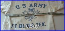 Vintage 1940s US ARMY USAAF T-Shirt Aviation Shirt WW2 WWII