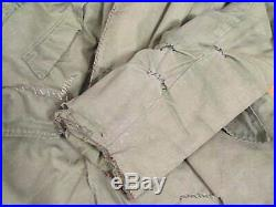 Vintage 1940s WWII US Army Air Force Type B-9 Parka Jacket Destroyed M Repairs