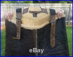 Vintage Original USAF WWII WW2 Sheepskin Bomber Pants Large Aero Flight Army
