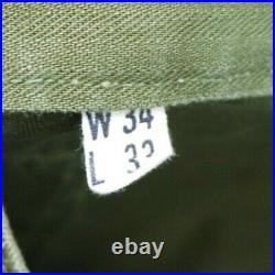 Vintage WW2 40s Military HBT Pants Field Trousers USMC US Army Cargo WWII 31x32