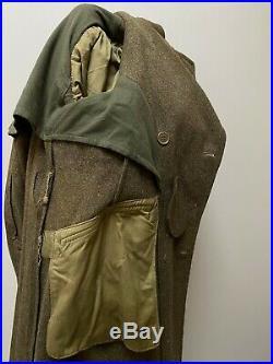 Vintage WW2 broad arrow army greatcoat overcoat size 5 36 38