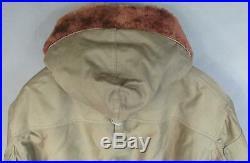 Vintage WWII US Army Air Force B-11 Flight Jacket Hood Military Alpaca Lined 38