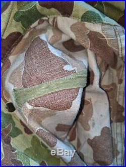 Vintage WWII WW2 Frogskin Camo Original Camouflage Coveralls Rare USMC Army P44