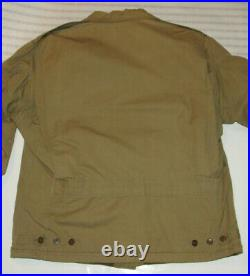 Vintage Wwii Us Army M41 Field Jacket! Talon Zipper! Epaulets! Fully Lined/m1941