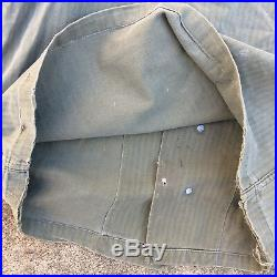 Vtg US Army Military HBT 13 Star Stencil Shirt Jacket WWII Korean War Uniform