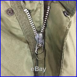 Vtg Vietnam War 60s Fish Tail Parka Trench Army Military Long Coat Jacket WWII
