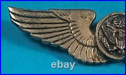WW 2, US Army Air Corps Air Crew Silver Wing, CBI Made, No HM, VG Cond, #11