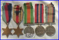 WW2 Australian Army Medal Group Africa Star AIF RAEME VX13974 Victorian WWII