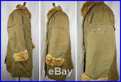 WW2 Imperial Japanese Army 2-Piece Pilot Winter Flight Jacket & Pants Rabbit Fur