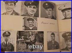 WW2 PHOTO FACE BOOK BOSTON NAMED ARMY NAVY MARINES SCRAPBOOK Names on Faces
