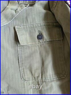WW2 US Army 2nd Ranger Battalion HBT Herringbone Jacket Size M/Large