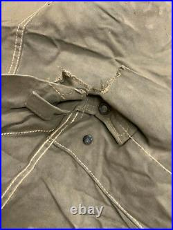 WW2 US Army COMPLETE Closed Flaps Tent 1944-45 2xHalves 2xPoles LATE OD