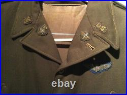 WW2 USAAF 8th 9th Army Air Corps ETO Bullion jacket Large size Original Uniform