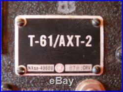 WW2 USAAF Original Secret US Army Air Force T61-AX2 Drone Aircraft Transmitter
