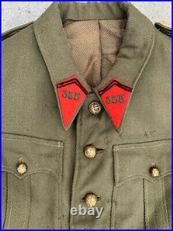 WW2 WWII French Army Green Wool Officers Field Jacket Tunic 355