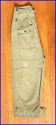 WW2 Womens Army Corps Herringbone Twill Trousers EXTRA RARE Authentic Original