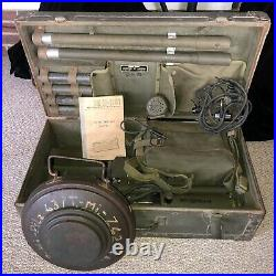 WWII 1944 U. S. ARMY AN/PRS-1 MINE DETECTOR plus 1 INERT TELLERMINE 43 (U. S. Mfr'd)