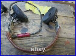 WWII Army Air Corps HS-33 Headset and Throat Mic set 100% originals